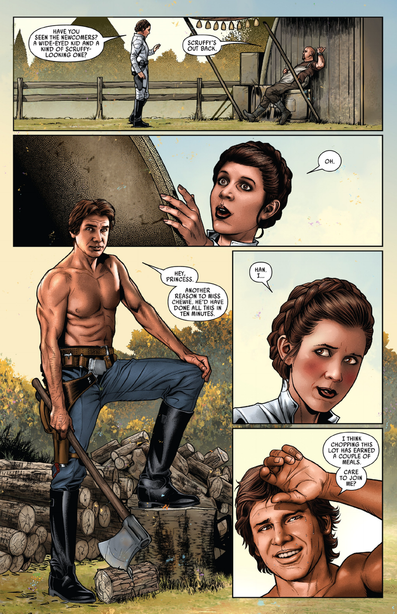 Marvel's Latest Issue of Star Wars Stars a Shirtless Han Solo