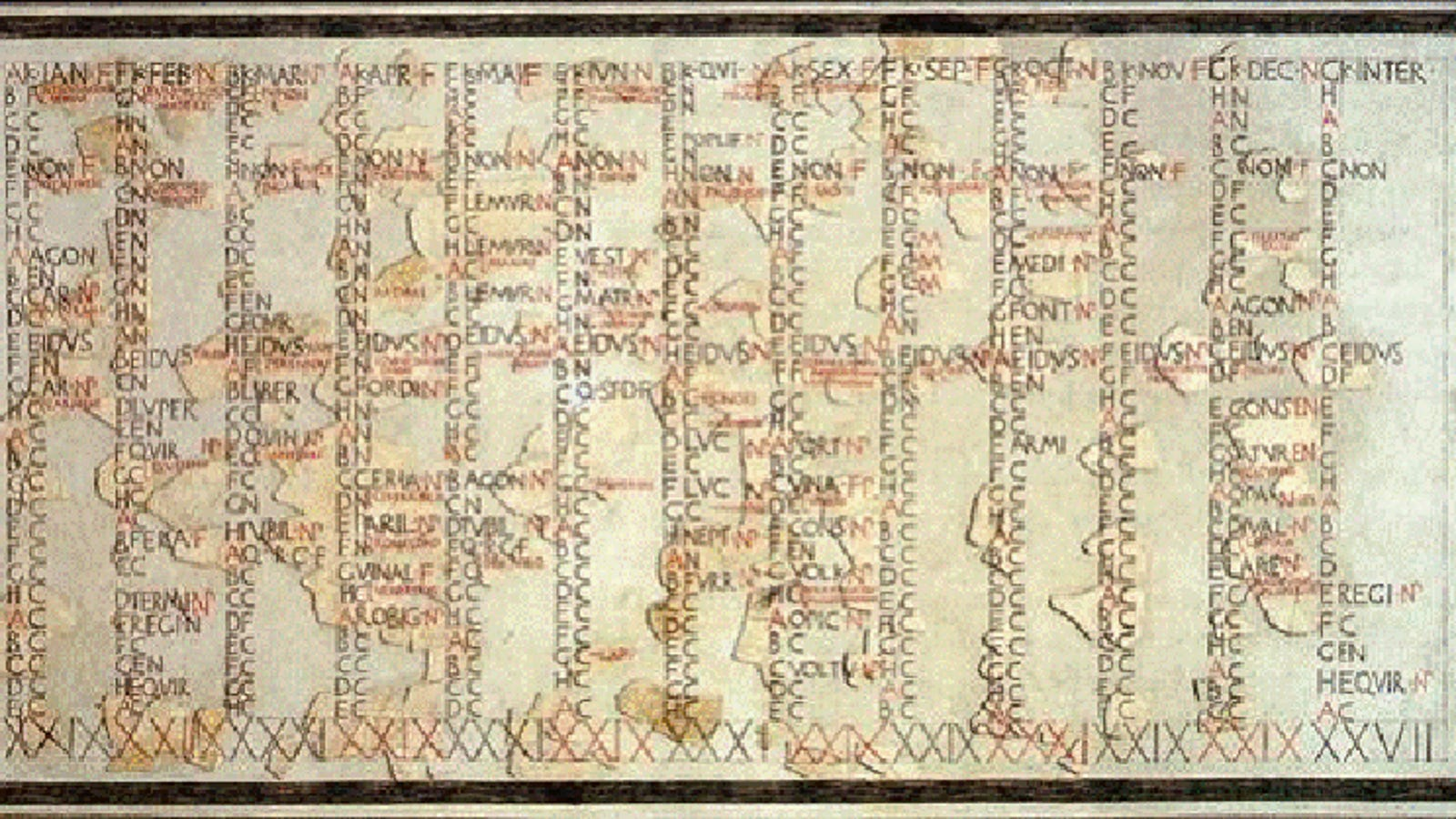 De dónde vienen los nombres de los doce meses del calendario