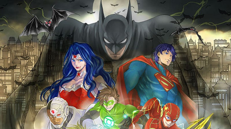 Illustration for article titled The manga of Batman and the Justice League is coming to the west