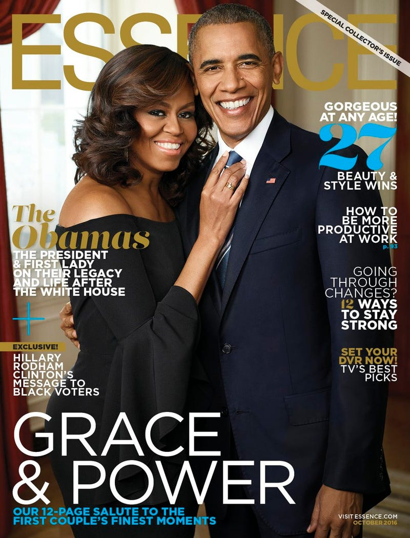 Essence cover featuring first lady Michelle Obama and President Barack Obama Essence magazine