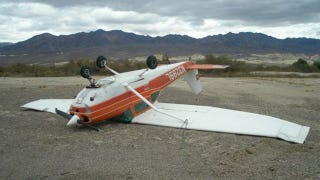 Illustration for article titled This Heavily Damaged Upside-Down Airplane Is For Sale And Can Be Yours