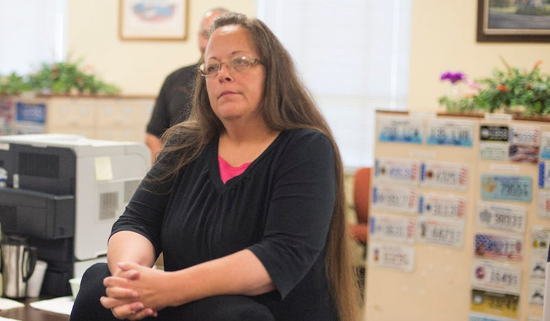 Illustration for article titled Kim Davis Thinks It's Sad That Marriage Matters So Much to Gays
