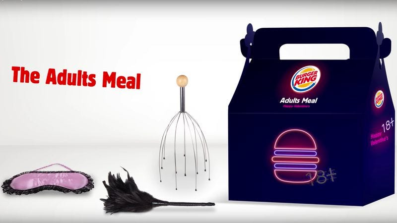 Illustration for article titled Burger King Israel includes sex toys in its very happy meal