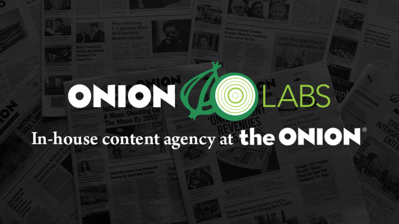 Illustration for article titled Onion Labs Listed Among Top 10 Publishers of Branded Content
