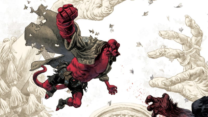 Illustration for article titled Mignola & Fegredo reunite in this Hellboy And The B.P.R.D.: The Beast Of Vargu first look