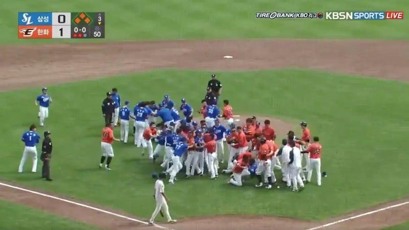 Korean Baseball Fight!