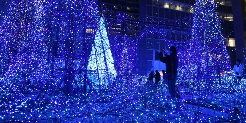 Illustration for article titled This Light Show in Tokyo Is Bewilderingly Pretty