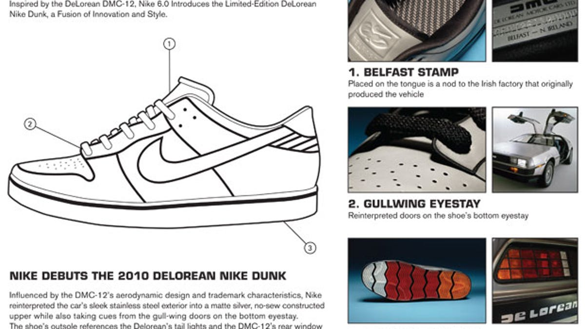 check out f5e62 8087d These Nikes Were Inspired By The DeLorean