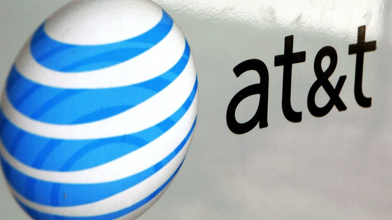 An AT&T logo is displayed on an AT&T truck July 25, 2006 in Park Ridge, Illinois.