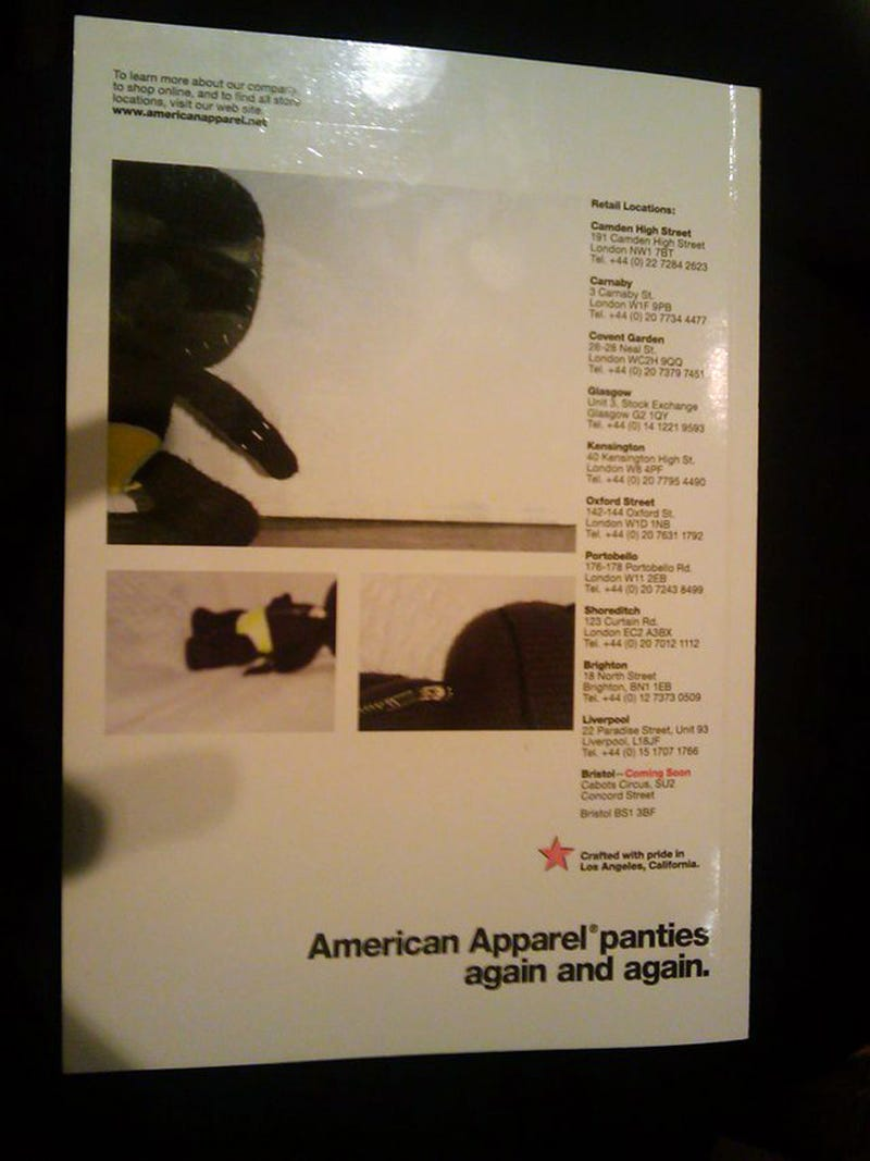 Illustration for article titled Sackboy In American Apparel Panty Ad