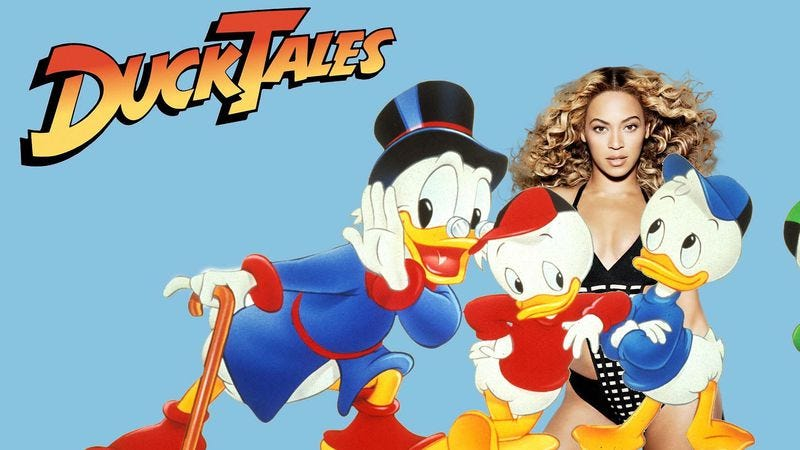 """Illustration for article titled Some hero synced Beyoncé's """"Single Ladies"""" video to the DuckTales theme"""