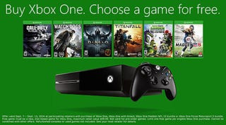 Illustration for article titled Get a Free Game of Your Choice With A New Xbox One, Including Destiny