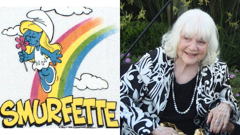 Illustration for article titled We Are All Blue: Lucille Bliss, Voice of Smurfette, Dies at 96