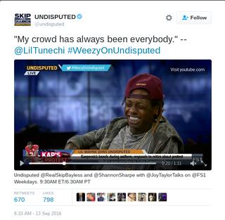 Lil Wayne on UndisputedTwitter