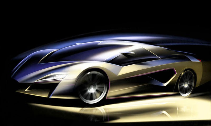 Illustration for article titled Giugiaro Frazer Nash Concept: World's Fastest Hybrid
