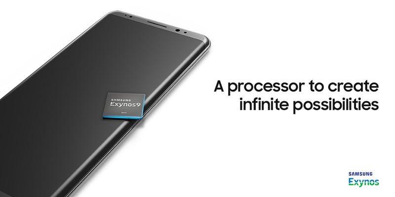 Samsung podría haber revelado el aspecto del Galaxy Note 8 en un tweet para anunciar un procesador
