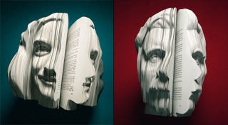 Illustration for article titled Books Sculpted to Look Like Their Authors