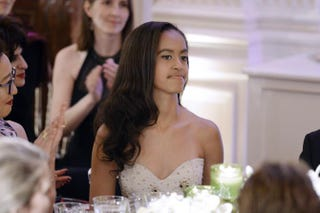 Malia Obama attends a state dinner at the White House in Washington, D.C., on March 10, 2016. Hosted by President Barack Obama and first lady Michelle Obama, the dinner is in honor of Prime Minister Justin Trudeau and first lady Sophie Gregoire Trudeau of Canada.Olivier Douliery-Pool/Getty Images