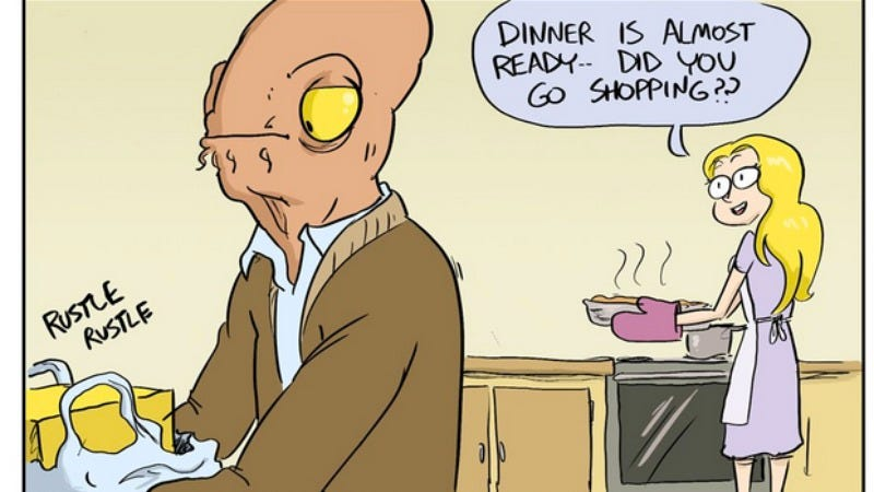 Illustration for article titled A Day In The Life Of Admiral Ackbar isn't a trap, but it is a little sad
