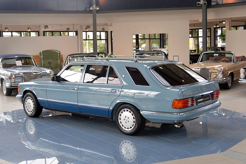 Wagon wednesday coachbuilt m b 500 sel estate for Mercedes benz dealers tampa bay area