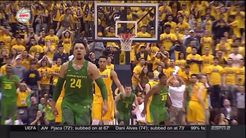 Illustration for article titled Dillon Brooks Buries Cal With A Buzzer-Beater After The Bears Blow A Huge Lead