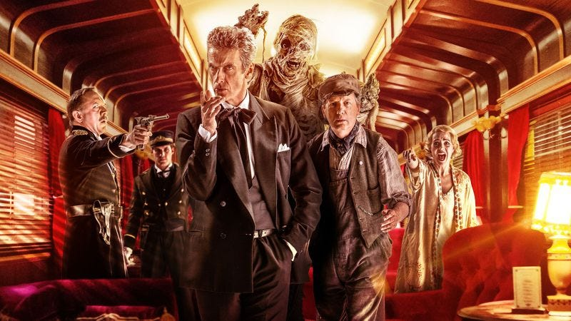 """Illustration for article titled Doctor Who: """"Mummy On The Orient Express"""""""
