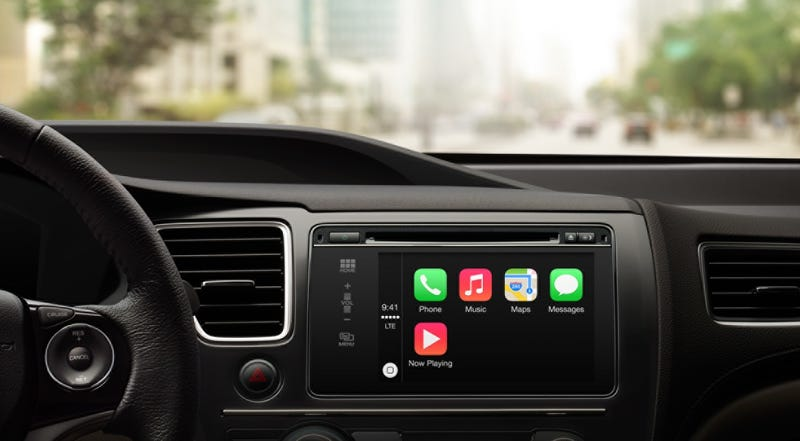 Illustration for article titled Apple CarPlay: iOS on Your Dashboard