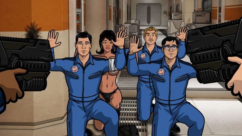 Illustration for article titled Archer rides the conclusion of its season finale into…the danger zone