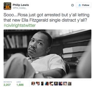 Example of #CivilRightsTwitter memeTwitter