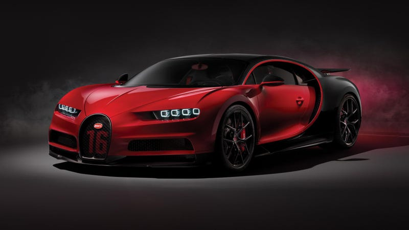 Illustration for article titled The Bugatti Chiron Sport Saves Weight With Carbon Fiber Windshield Wiper Arms