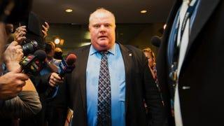 Toronto Mayor Rob Ford at Toronto City Hall, Nov. 15, 2013Aaron Vincent Elkaim/Getty Images
