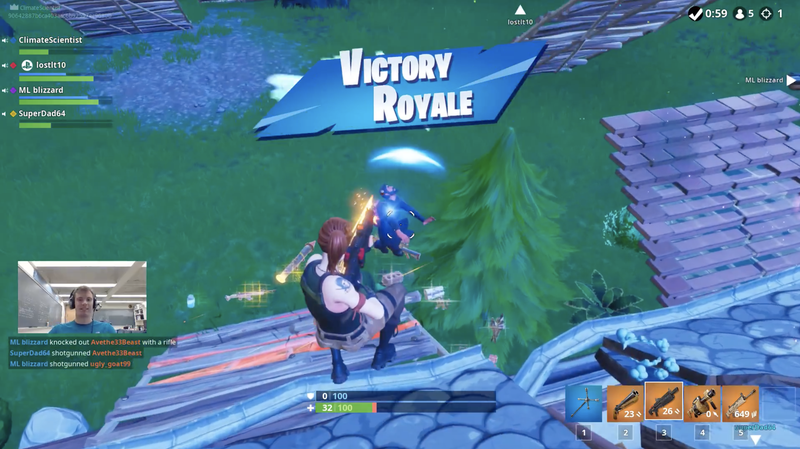 First Climate Fortnite Squad victory.