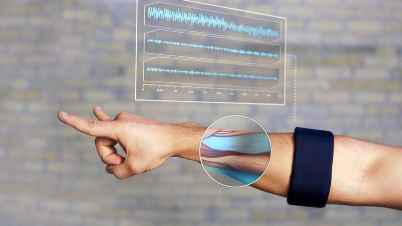 Illustration for article titled This sleek gesture-control armband can now be used to pilot a robot