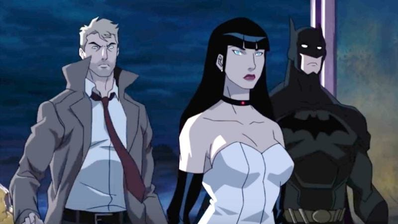 This is a screenshot from the recent animated Justice League Dark movie
