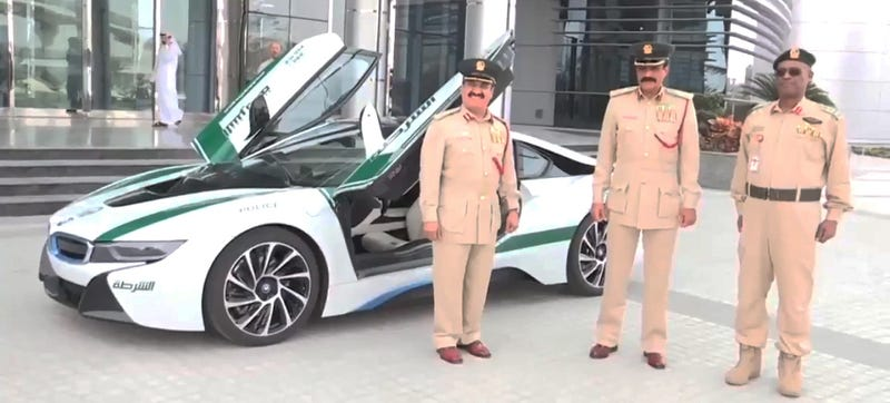 Illustration for article titled Dubai Just Added A BMW i8 To Its Supercar Police Fleet
