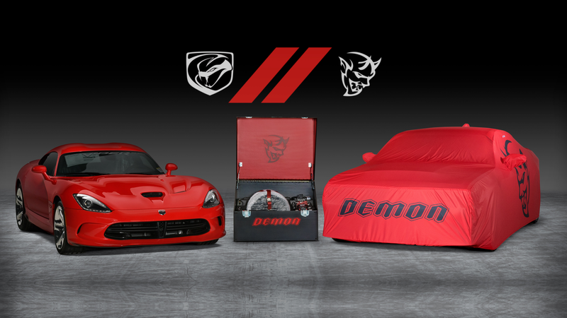 Illustration for article titled Prove You're The Bro-iest Of Bros By Buying The Last Dodge Challenger Demon And Viper At Auction