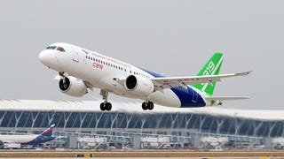 Illustration for article titled Comac built a third C919 prototype