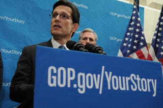 House Majority Leader Eric Cantor at a news conference at the Capitol on Dec. 11, 2013Rod Lamkey/Getty Images