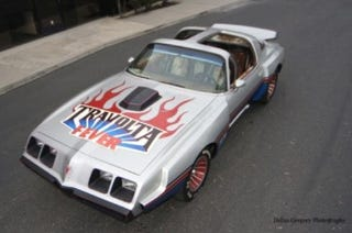 """Illustration for article titled Don't Touch the Hair: """"Travolta Fever"""" Custom Trans Am on eBay"""