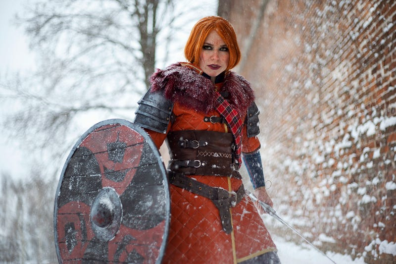 Illustration for article titled Witcher 3 Cosplay Is Burning Through The Snow