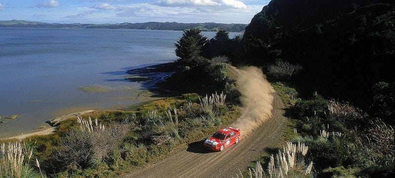 A shot of Tommi Makinen at Rally New Zealand back in 2000. Not an ugly place. Photo Credit: Getty Images