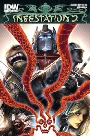 Illustration for article titled New comic book promises Transformers, Ninja Turtles, 30 Days of Night, G.I. Joe, and Dungeons and Dragons versus Lovecraftian monsters