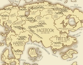 Illustration for article titled Explore the Social Network Planet