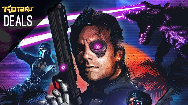 """Illustration for article titled Robocop 4K Remaster On A 65"""" TV, Red Vs. Blue, Blood Dragon [Deals]"""