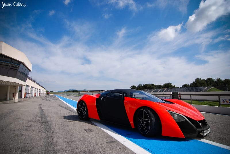 Illustration for article titled The Marussia Actually Looks Pretty Badass On A Track