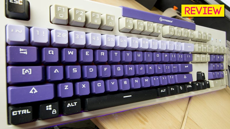 Illustration for article titled Hyper Clack Retro-Style Mechanical Keyboard Review: Not So Super