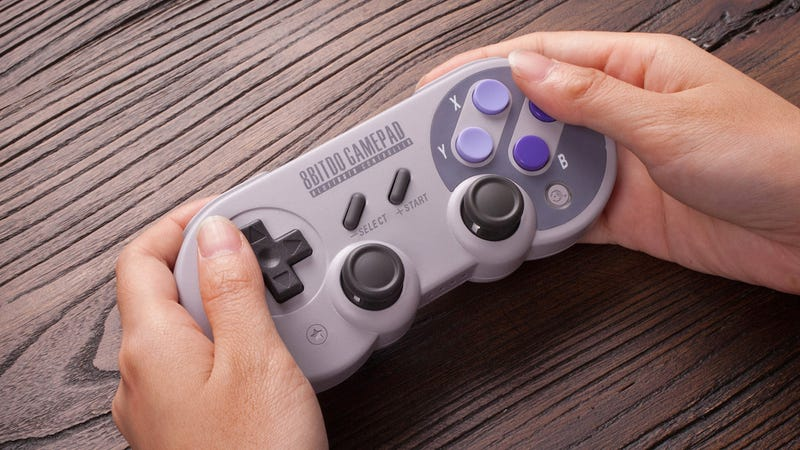 Illustration for article titled This SNES-Style Nintendo Switch Controller Is Designed to Play 32 Years of Games