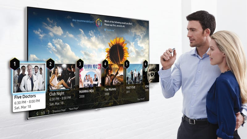 Illustration for article titled Samsung's 2014 Smart TVs Will Be Controlled By Your Pointed Finger