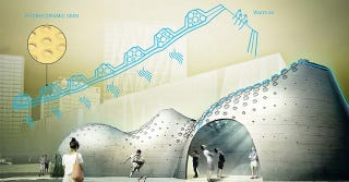 Illustration for article titled Hydroceramic Walls Could Cool Buildings By Sweating Like Human Skin