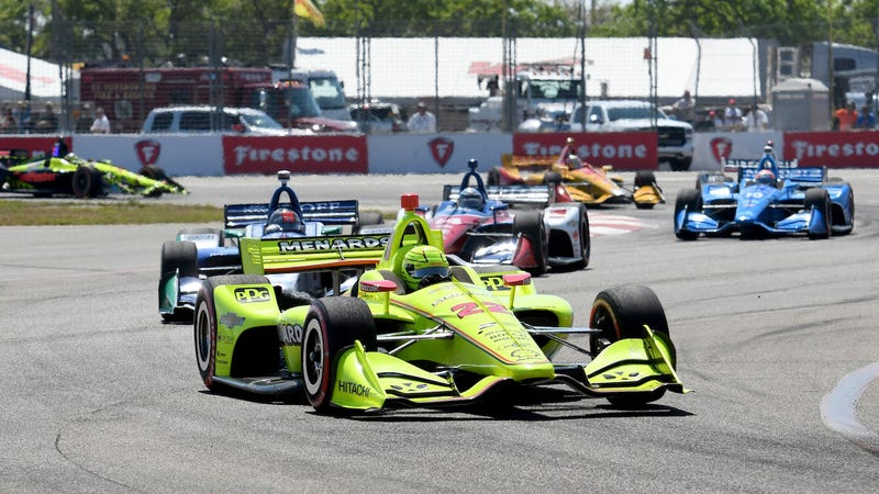 Simon Pagenaud at the Firestone Grand Prix of St. Petersburg in March.